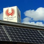 Solar Panel with Eagle Solar and Light Logo